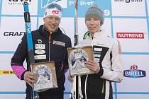 Jan Šrail ovládl (vlevo) závod v Krušných horách.
