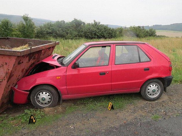 Nehoda u Vřeskovic.