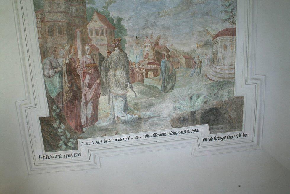 Fresky v horažďovickém zámku.