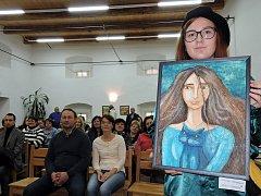 Aukce obrazů v Dešenicích.