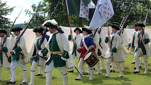 Francouzská jednotka u hradu Švihov