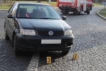 Nehoda osobního vozu a motocyklu v Sušici.