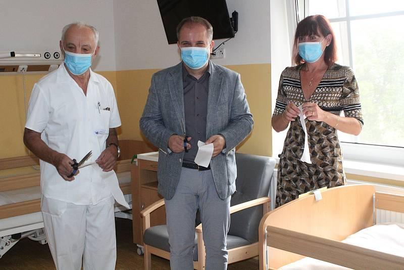 Nové oddělení Klatovské nemocnice se zdravotně sociálními lůžky.