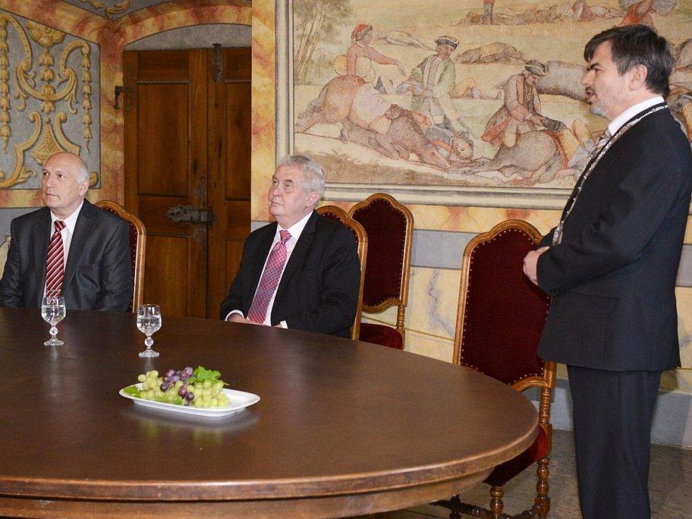 Prezident Miloš Zeman v Horažďovicích