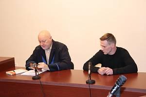 Libor Kocík u klatovského soudu.