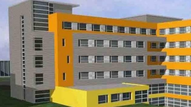 Vizualizace nového nemocničního monobloku.