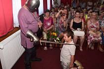 Pasování školáků v pačejovské mateřské škole.