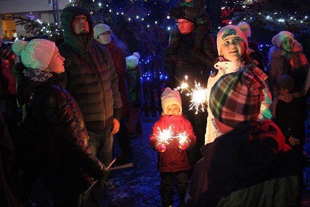 Rozsvícení vánočního stromu vKlatovech.