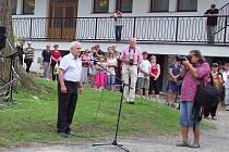 Karel Štěpán Lamberk mladší vystoupil počátkem května na slavnostním otevření Muzea Lamberské stezky v Žihobcích.