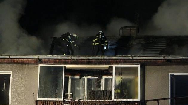 Požár domu v Plánici.