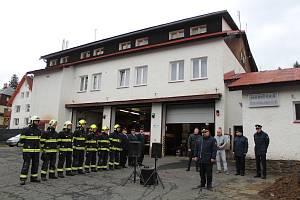 Zahájení stavby hasičské zbrojnice v Železné Rudě.