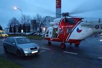 K nehodě do Horažďovic musel letět vrtulník.
