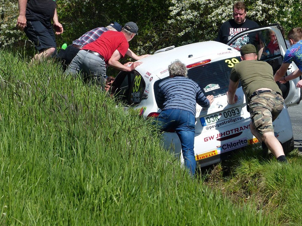 Rallye Šumava 2021 bez diváků.