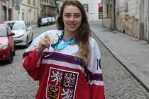 Veronika Lorencová přivezla ze zimní olympiády mládeže z norského Lillehammeru stříbrnou medaili