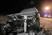 Nehoda mezi Mochtínem a Kocourovem.