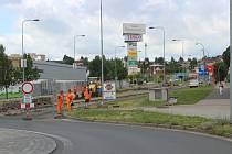 Práce v Domažlické ulici potrvají do konce srpna.