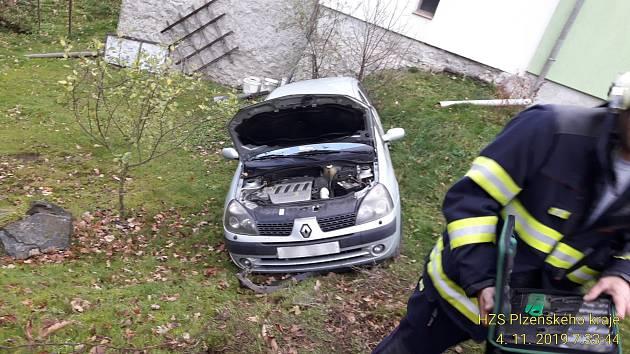 Nehoda v Balkovech.