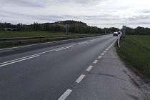Silnice z Klatov přes Beňovy, která se začne od 24. května opravovat.