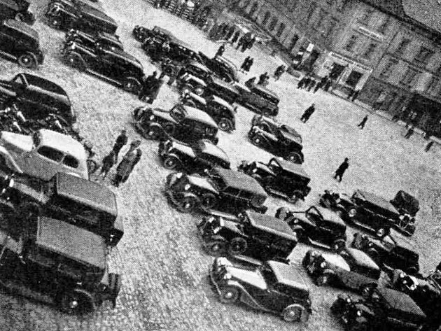 Dobový snímek automotoklubu v Klatovech