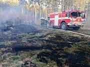 Požár lesního porostu Žlíbek.