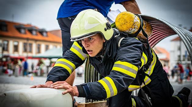 Soutěž Železný hasič v Horažďovicích.