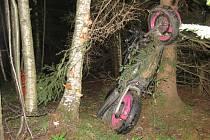 Tragická nehoda 30letého motorkáře z Klatovska na Čachrovsku.