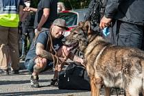 V Janovicích nad Úhlavou policisté kontrolují návštěvníky ohlášené technoparty. Návštěvníci musí doložit platný certifikát či negativní test, taktéž probíhá kontrola s psovody na přítomnost drog.
