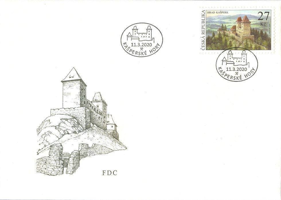 Obálka k vydání poštovní známky.