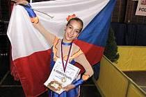 Jedenáctiletá Michaela Lávičková se chystá na Mistrovství Evropy v mažoretkovém sportu.