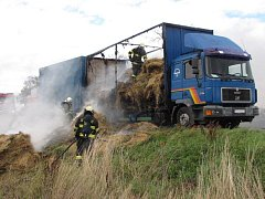 Nehoda kamionu u Lomce.
