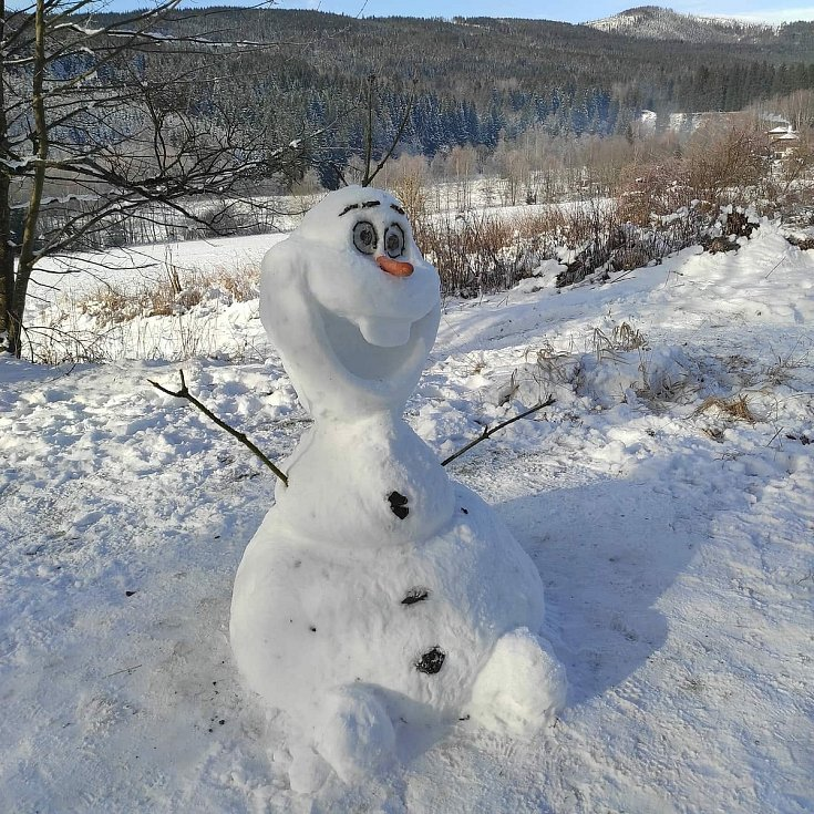 Sněhuláci, která zaslali čtenáři Deníku.
