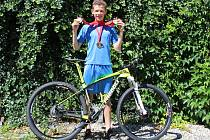 Cyklista Matyáš Fiala získal na olympiádě dětí a mládeže v Brně čtyři zlaté a jednu bronzovou medaili