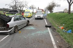 Nehoda opilé řidičky u Rabí.