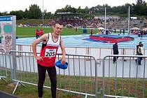 Na národním šampionátu reprezentoval Atletiku Klatovy Tomáš Hostýnek (na snímku).