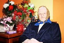 Jiřina Mohrbachová z Dobršína oslavila 90. narozeniny.