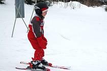 První lyžaři na Weissově louce