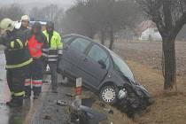 Dopravní nehoda u Koryt na Klatovsku