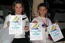 Eliška Krýslová a Jan Panenka vybojovali v Plzni tři medaile.