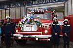 Předání repasované hasičské Tatry 148 v Pačejově