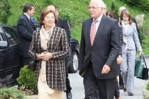 Návštěva prezidenta Václava Klause na Šumavě