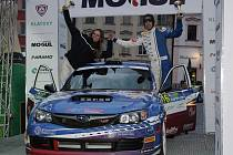 Cíl Rallye Šumava Klatovy 2017