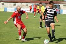 Michal Lukeš v zápase proti SK Dynamo České Budějovice B.