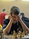 Šachisté Šachklubu Sokol Klatovy vyhráli mládežnickou extraligu. Na fotografii je Lukáš Dolanský.