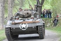 Oslavy 70. výročí osvobození v Kašperských Horách, rekonstrukce bitvy o Zhůří