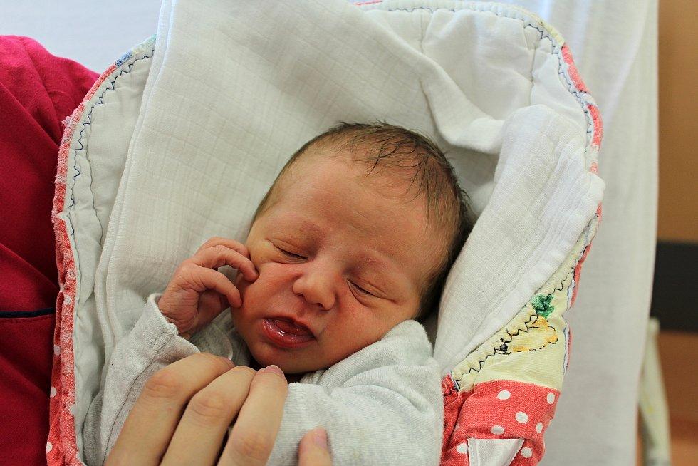 Kristián Všianský zKlatov se narodil vklatovské porodnici 26. července v8:25 hodin (2830 g, 50 cm). Rodiče Žaneta a Ivan věděli dopředu, že Nikolce (8) přivezou domů malého brášku.