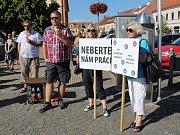Mítink na podporu malých nemocnic v Sušici.