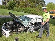 Dopravní nehoda u Lhovic