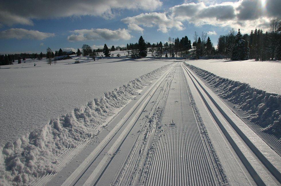 Zima na Šumavě.