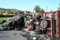 Dopravní nehoda u Dobršína