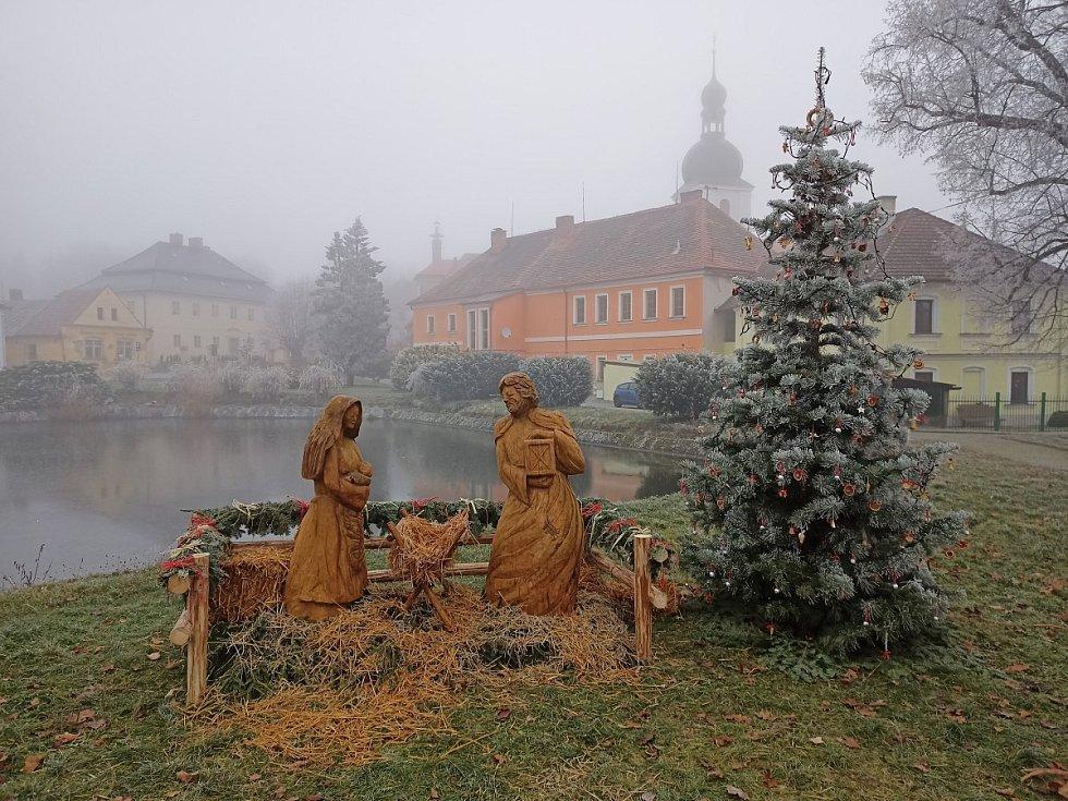 Vánoční strom v Chudenicích.